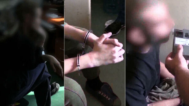 Oskarżeni po zatrzymaniu przez policję ksp