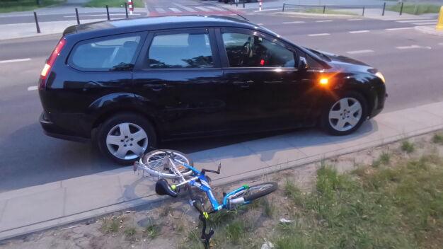 Chłopiec na rowerze potrącony na Łukowskiej