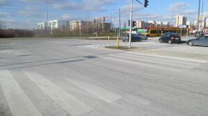 Ulice były białe od soli, choć warunki całkiem dobre