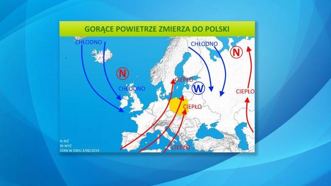 Gorące powietrze zmierza do Polski