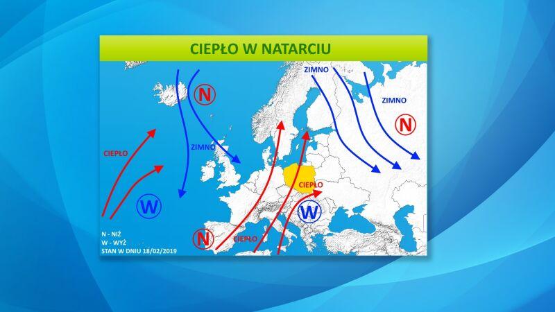 Do Polski napływa ciepła masa powietrza