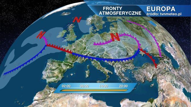 Pogodę w Polsce kształtuje niż Stina