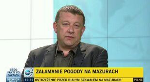 Artur Chrzanowski o niedzielnych burzach (TVN24)