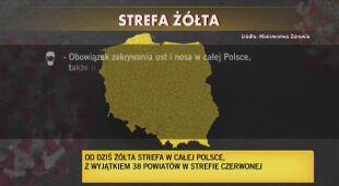 Żółta strefa w całej Polsce