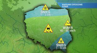 Warunki drogowe w czwartek 11.02